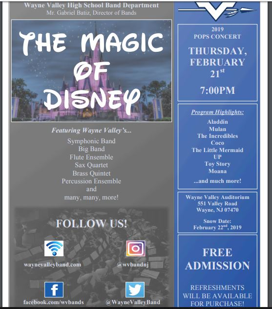 WV+Bands+Present+The+Magic+of+Disney